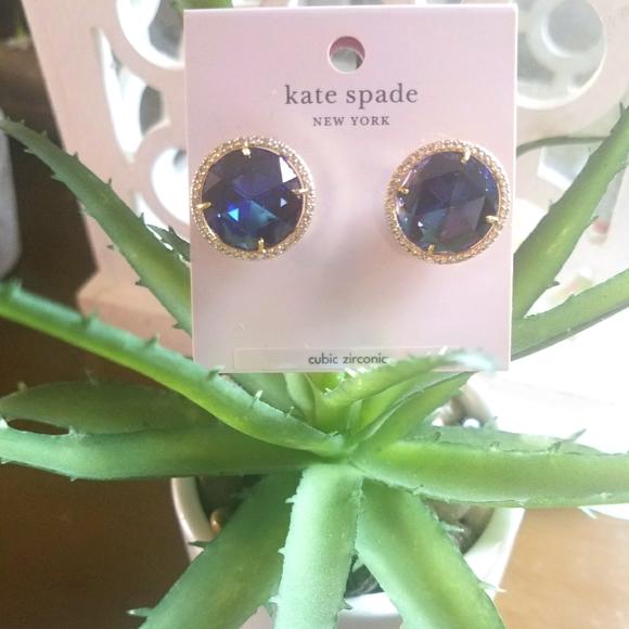 🔥NWT KATE SPADE SIMULATED BLUE SAPPHIRE EARRINGS